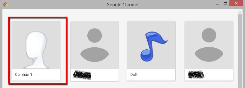 Cách tạo người dùng trên Google Chrome