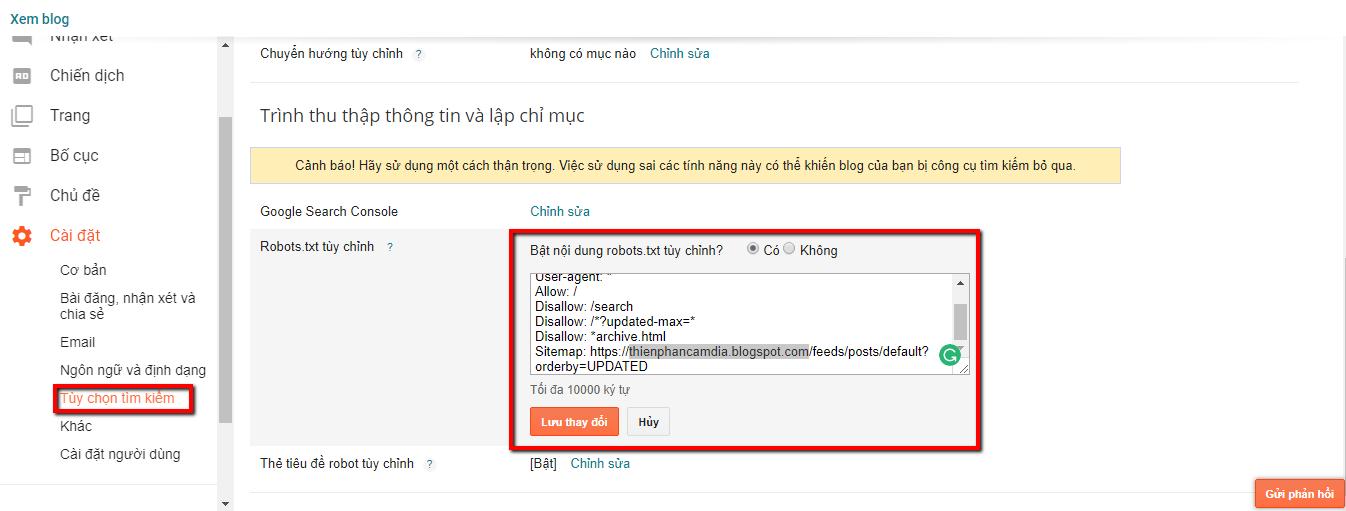 Tối ưu file Robots.txt chuẩn SEO cho Blogspot