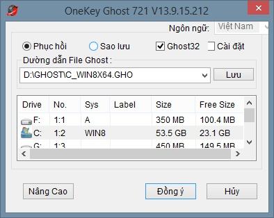 Hướng dẫn sao lưu - GHOST Win, ổ đĩa một cách nhanh chóng đơn giản