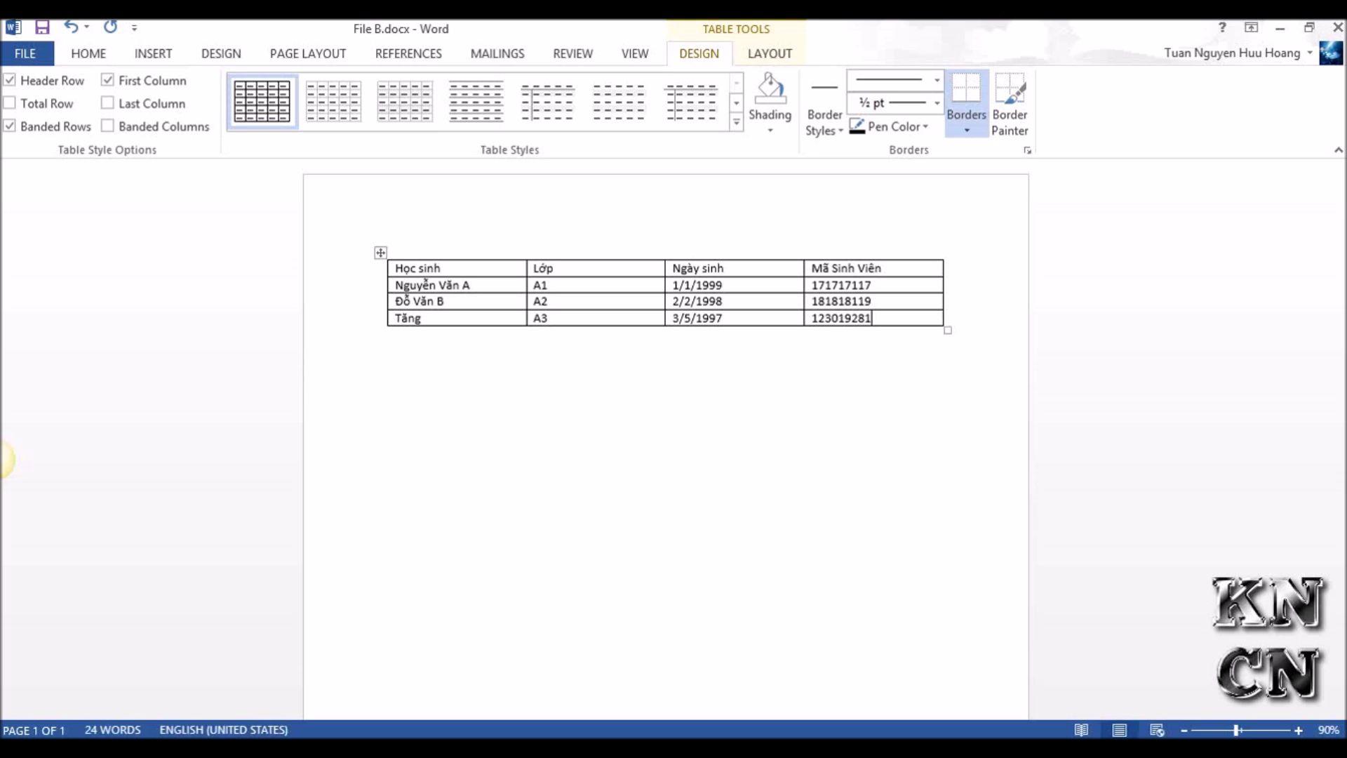 Tron thu bang Microsoft Word Mail Merge tron van ban