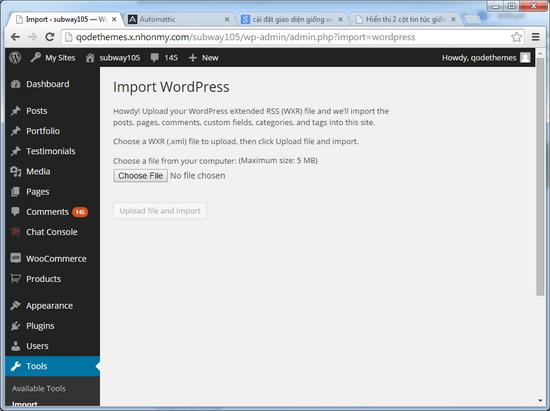 Tăng dung lượng upload tập tin WordPress