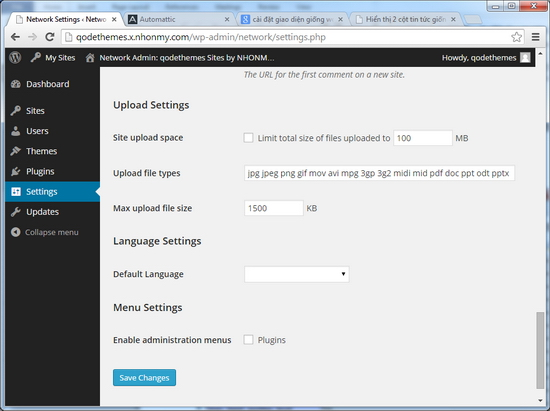 Tăng dung lượng upload tập tin ảnh video WordPress