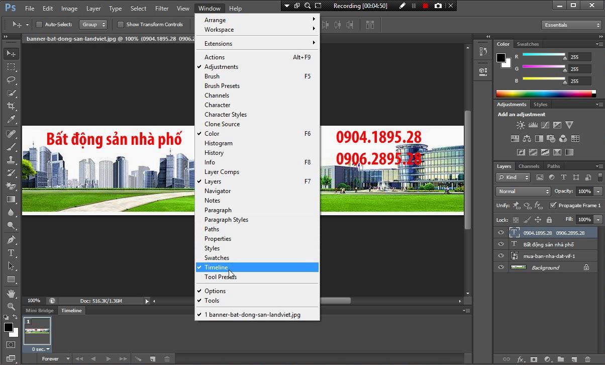 Hướng dẫn cách tạo ảnh động GIF bằng Photoshop CS 6