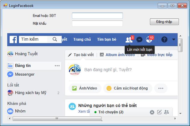 Đăng nhập Facebook bằng VB.NET - Kynguyencongnghe.com