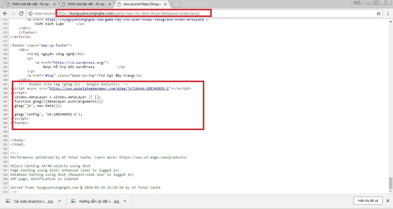 Cài Code Google Analytics cho trang AMP đơn giản