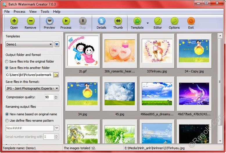 Phần mềm xử lý ảnh hàng loạt, đóng dấu ảnh nào tốt?